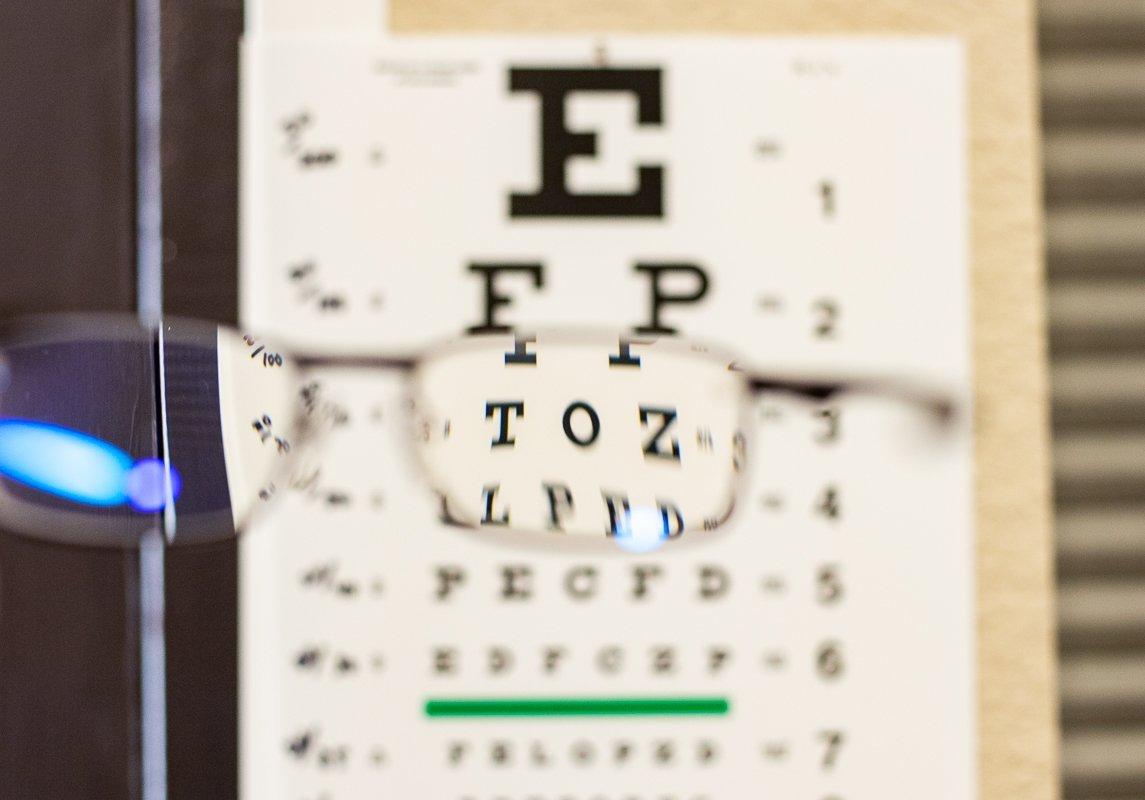 eye exam letter poster